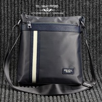 Men's single shoulder bag diagonal package business casual leather bag handbag