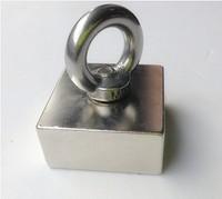 Block hole magnet 50 x 50 x 25 mm powerful magnet craft magnet neodymium  rare earth neodymium permanent strong magnet n50 n52