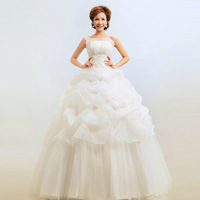 Free Shipping 2014 NEW wedding dress White Sexy Off shoulder backless flower bride gown sweet princess wedding dresses HS003