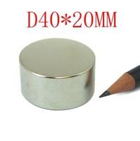 40*20 10PCS N52 NdFeB 40mm X 20MM strong magnet lodestone Super permanent magnet magnet neodymium D40*20MM  D40MMX20MM