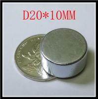 5PCS D20*10MM  20 MM X 10 MM disc powerful magnet craft magnet neodymium  rare earth neodymium permanent strong magnet n50