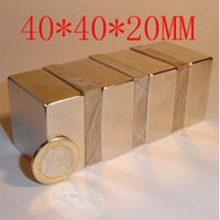 2PC 40X40X20MM  40 X 40 X 20 powerful magnet craft magnet neodymium  permanent strong magnet  n52 HOLDS 60KG