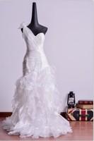 2014 Luxurious top wedding dresses Croset Bodice Lace Top Quality Real Sample  princess Designer Wedding Dress