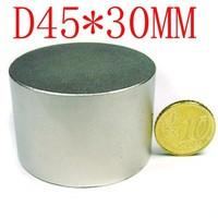 1PCS 45MM X 30MM disc powerful magnet craft magnet neodymium  rare earth neodymium strong magnet stop water meter run