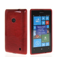 High Quality Flexible Soft Gel TPU Silicone Skin Slim Back Case Cover For Nokia Lumia 520