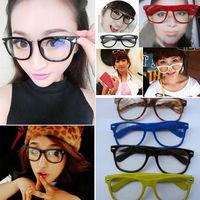 Details about NEW Retro Fashion Lovely Unisex Clear Lens Wayfarer Nerd Geek Glasses Colorful