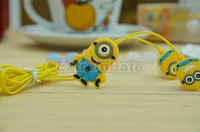 Despicable Me Cartoon Anime 3.5mm in ear Headphone Earphone Headset for Mobile Phone MP3 PC Computer Free Shipping