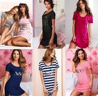 2014 New Women Nightdress Cotton Nightgown Cute Short-Sleeved Pajama Women's Home Clothes Sleepwear