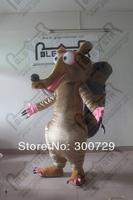 POLE STAR MASCOT COSTUMES high quality plush scrat mascot costumes big tail squirrel costumes