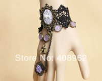 Shopping Festival 3/25 only 50% off deals Halloween Christmas Party jewelry,female lace Bracelet ring chain wholesale