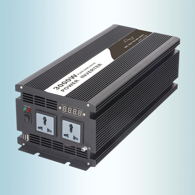 OFF GRID SOLAR POWER INVERTER PURE SINE WAVE 3000W DC12V 24V 48V TO AC 220V 230V 240V 110V USE FOR ALL ELECTRICAL EQUIPMENT(China (Mainland))