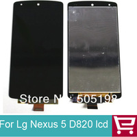 For LG Google Nexus 5 D820 D821 LCD Display Screen Touch Digitizer Glass Assembly 5pcs/lot wholesale via DHL free shipping