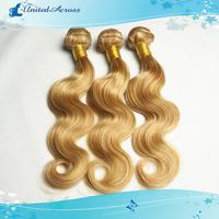Brazilian Piano Color Hair 27#/613# Human Hair Extension Queen Hair Brazilian Virgin Hair Body Wave 3-4 Pcs/Lot Free Shipping