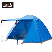3 tent double layer rain rod tent outdoor camping