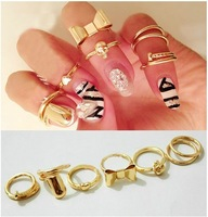 Hot Sale. Fashion Skull Nail Midi Knuckle Ring set 7 pcs per set wholesale/retailer
