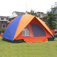 Double double layer tent two-door 2 adhesive tent outdoor tent moisture-proof pad tent light