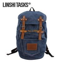 2014 LINSHITASKS British retro canvas shoulder bag backpack Korean wave packet