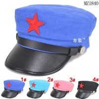 2014 Children Solid Color Baseball Hats Boys Girls Star Patch Flat Baseball Caps Kids Accessories Free Shippnig 5 PCS