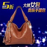 Bags female bag tassel genuine leather cross-body shoulder bag big bag vintage trend women's handbag female handbag