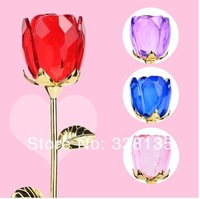 new style Free Shipping 300mm  Crystal Rose Flower For Wedding Decoration Safest Package with Reasonable Price