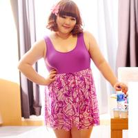 Bribed 2014 swimwear big one-piece dress plus size swimwear plus size hot spring swimwear