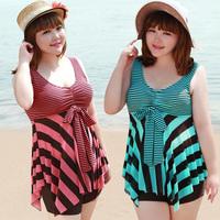Bribed swimwear women's plus size plus size swimwear split skirt big push up swimwear spa