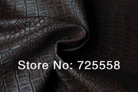 Coffee Bean Alligator Embossed Leather Fabric,Fake Crocodile Leather Upholstery Fabric,Making Bag,Purses Leather Fabric(