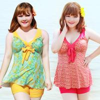 2014 swimwear bribed f56 hot spring female swimsuit mm plus size plus size dress split capris