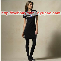 2014 Hot Sale Sports Style Casual Letter Block Half Sleeve Slim Hip One-piece Dress Women's Dress Free shipping 5003#