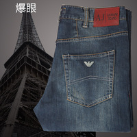 Aj jeans male casual loose straight jeans male  free shipping