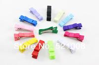 DIY Hair Accessories Clips Baby Girls Ribbon Hair Bow Clip Children Hair Pin 50pcs/Lot Free shipping