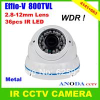 High Resolution 800TVL Sony Effio-V CXD4141GG+663 Super WDR Defog 3DNR Outdoor Vandalproof Security Dome CCTV Camera