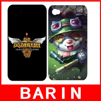 50Pcs/Lot FREE SHIPPING LOL League of Legends mobile phone case for iphone4/4S 5/5S Multiple selection LOL features