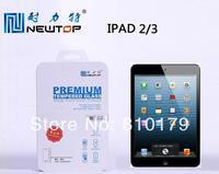20pcs/lot Newtop  9H 2.5D Tempered Glass Screen Protector for Ipad ipad2 Ipad3 Ipad4 Ipad5 Ipad Air--Round Edge
