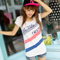 2014 spring slim women's short-sleeve T-shirt plus size clothing women's basic t shirt short-sleeve shirt