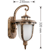 Outdoor waterproof outdoor small fish wall lamp fashion bronze  classical