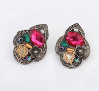 New exotic wild acrylic earrings retro personality2014 new designer fashion jewelry earrings For women