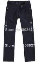 MEN'S OUTDOOR WINDSTOPPER SOFTSHELL Pants black size S/M/L/XL/XXL