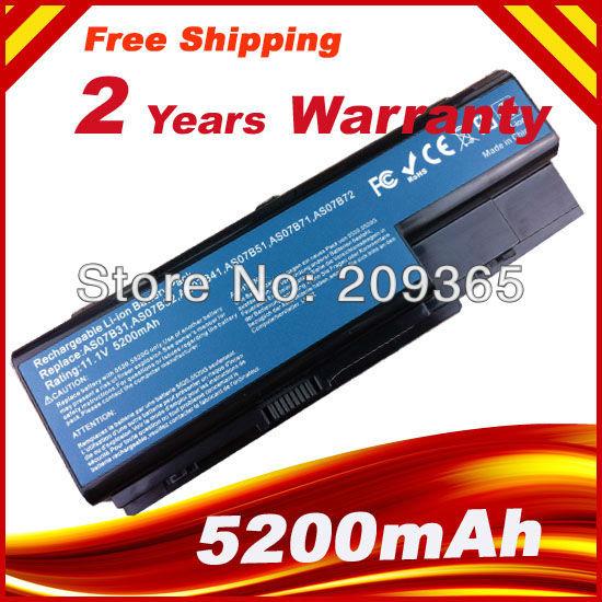 New Laptop battery for Gateway NV73 NV74 NV78 AS07B32 Laptop NV79 AS07B41 AS07B31,free shipping(China (Mainland))