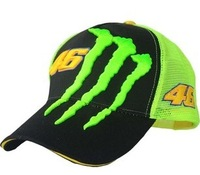 Free Shipping Limited cap Grid cap VR46 Rossi F1 Car Motorcycle racing green embroidery outdoor sports Baseball hat cap