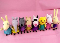 2014 New Arrival Peppa Pig  Geroge Friends Danny Dog Candy Cat Suzy Sheep Rebecca Rabit  Emily Elephant Austrial  Free Shipping