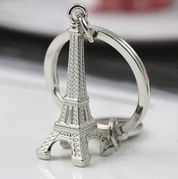 2014- best selling Romantic Paris Eiffel Tower car key creative ms key ring chain male high-end gifts