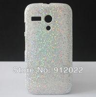 Bling Glitter HARD SKIN COVER CASE FOR Motorola Moto G XT1032 +Free Screen