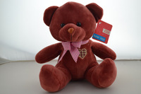 """Soft Classic baby toy -8"""" Plush Teddy Bear with 10 colors - Burgundy, good quality in cheaper price,Stuffed&plush Toy"""