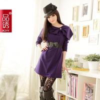 Free shipping Jk2 . autumn yy pure gentlewomen one-piece dress big bow 1555