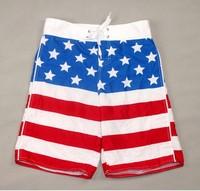 AU203 !!2014 new style The American flag pattern man swimming trunks beach pants, fashion decorative pattern