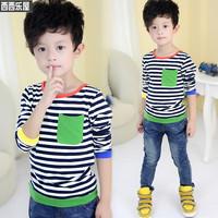 2014 bakham children's clothing spring children male child long-sleeve T-shirt baby child basic shirt