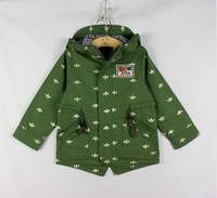 After spring new boy MiZiQi labeling cloth dovetailed children hooded windbreaker