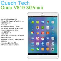 """Quad Core Tablet Phone Onda V819 3G mini 7.9"""" IPS Screen MTK8389 Allwinner 1GB DDR3 RAM 16GB ROM Android 4.2 Russian Ultra Slim"""