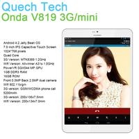 Tablet Phone Onda V819 3G mini 7.9 Inch MTK8389 Quad Core 1GB DDR3 RAM 16GB Android 4.2 OS IPS Russian Super Slim Free Shipping